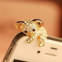 Koala rhinestone dust plug  for apple    for SAMSUNG   3.5mm interface general full rhinestone earphones plug