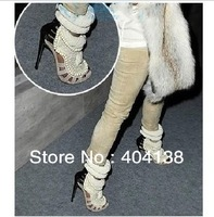2014 Spring Summer fashion Brand sexy high heel women's Pearl Shoes pumps Beading signature design in Sandals size 34-41