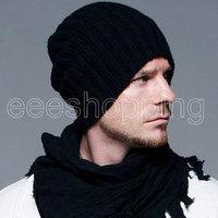 S203 New 2013 2014 Fashion Casual Cute Unisex Men Women Boy Hip-Hop Wool Knit Ski Beanie Solid Autumn Winter Warm Hat Wholesale
