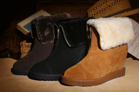 2014 autumn and winter snow boots platform boots cotton-padded shoes fur boots