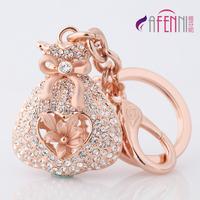 Fanny women's keychain car key chain birthday valentine day gift purse