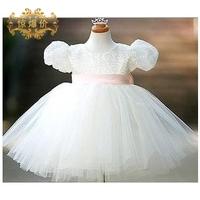 new arrival 2014 Child princess dress female child wedding dress flower girl formal dress child costume cute Christmas costume