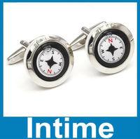 Free shipping 3183  high quality compass cufflinks