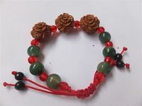 Cherry wood crystal red string bracelet taohe bracelet apotropaic rose rich