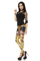 Wholesale Brand Design Fitness Elegant Beauty Printed Women Leggings P066
