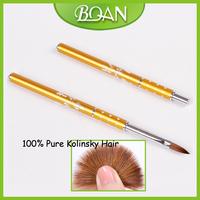 Hot Sale Nail Art Wholesale Nail Brush Nail Acrylic Brush Natural Hair 10pcs / Lot Free Shipping
