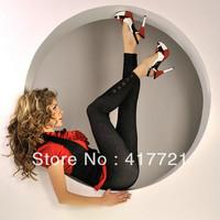 Free Shipping New Designer ML7633 Beautiful Fitness Black Blue  Women Fashion Denim Like Jeans Jeggings