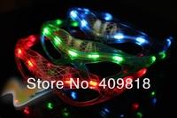LED Spiderman Glasses Flashing Glasses Light Party Glow Mask Christmas Halloween
