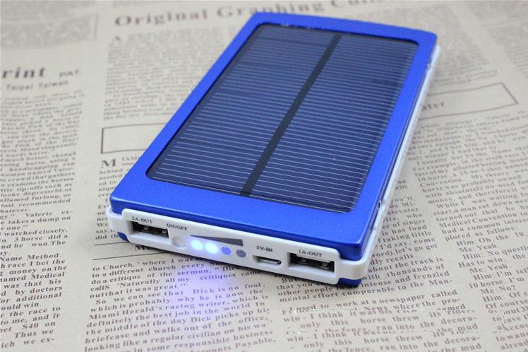 10000 mah panneau solaire de batterie de t l phone portable power bank chargeur de batterie. Black Bedroom Furniture Sets. Home Design Ideas