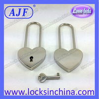 2014 hot sale long shackle lover's heart shape lock for valentines day promotional items