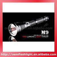 Solarforce M9 Cree XM-L2 U2 LED 6-Mode 1020 Lumens Flashlight (1 x 18650 / 2 x 18650)