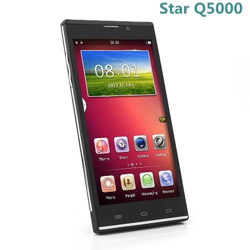 Stella q5000 5,0 pollici cellulari 3g mtk6582 quad core Android 4.2 1gb 8gb wcdma doppia fotocamera