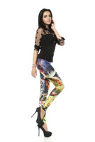 Wholesale Brand Design Fitness Elegant Mario Graffiti Printed Women Leggings P076