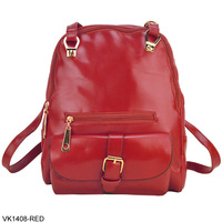 4 Color 2014 Hot Sale Fashion Women Street Backpack PU Leather Ladies Shoulder Bag  VK1408