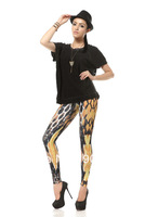 Wholesale Brand Design Fitness Elegant Snake Grain Tattoo Printed Women Leggings P074