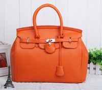 2013 HOT America star Brand leather handbag Lock designer Vintage women totes candly color fashion bag freeship Promotion!!6901H