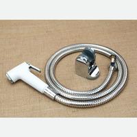 "Toilet set sanitary ware Shattaf ( white color ) Handheld Portable Diaper Sprayer TS076SET head+hose+bracket+G1/2"" valve+ bolts"
