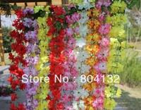 10pcs 200CM Artificial Flower Vines Wreath Garlands for Wedding Christmas Party Decoration
