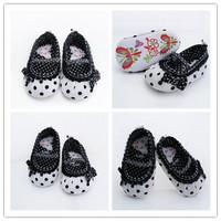 Cute children's shoes white-black dot Baby Shoes White-black soft sole baby shoe Free Dropshipping