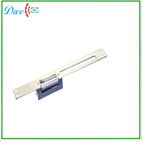 Free shipping 12V 90 degree swinging door Long Plate European Narrow-type and Adjustable Door Lock Electric Strike NO style