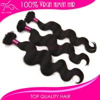 Mix length 4 bundles Indian hair no attachment virgin unprocessed body wave indian hair extensions for braiding bulk