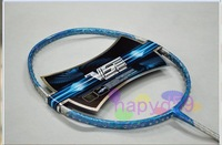 2pcs high quality laser water transfer badminton racquet high-density carbon badminton racquet max 29lbs free grip & strings