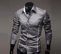 2014 hot   New Mens long sleeve Shirts Casual Slim Fit Stylish Mens Dress designer Shirts,M-XXXL