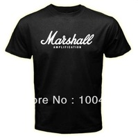 MARSHALL Amplication AMP Rock Band Metal Logo Men Black T shirt  Printed custom T-shirt