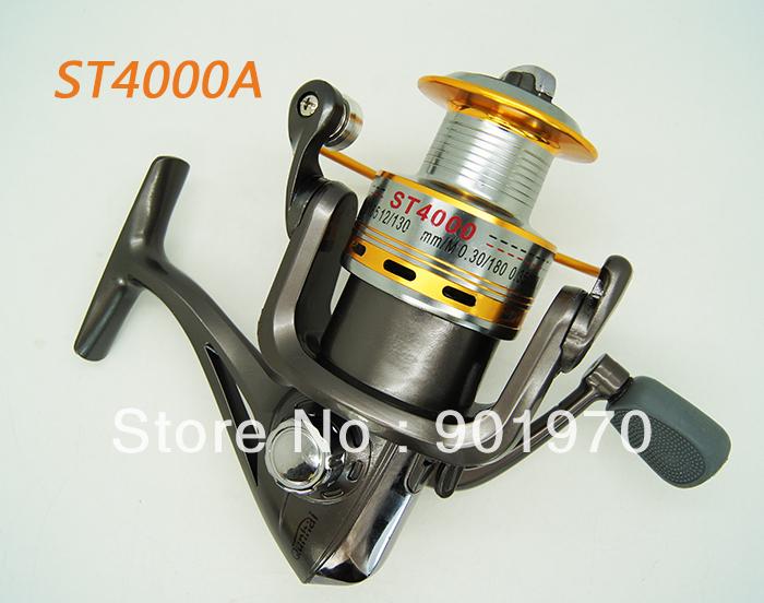 ST4000 High quality Aluminium Spool SPINNING FISHING REEL 8BB 5.1:1 Free shipping(Hong Kong)