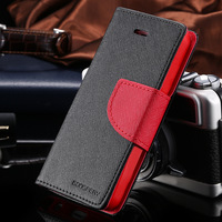 New Chic Mercury Series Color Button Case For iPhone 5 5G 5S PU Leather Wallet Stand Function Cover Mobile Phone Bags RCD03748