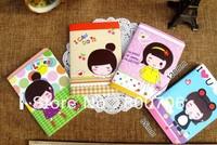 Free Shipping!! 100 Pcs / Lot New Cartoon Japan Korea Girl Creative Notebook / Dairy Book / Note Book