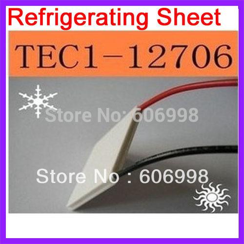 2pcs lot TEC1 12706 Semiconductor Refrigerating Sheet Refrigeration CPU Dispenser