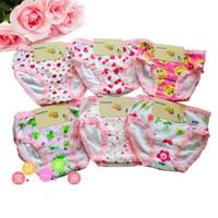 Free shippping children panties cartoon child panties  100% cotton 0-1 year old  baby  panties trigonometric baby bread pants