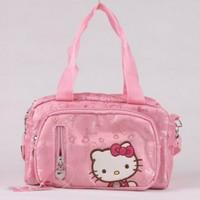 KT7914 Canvas Hello Kitty Kindergarten School Bag Kids Cartoon School Messenger Bag Animal Bags Gift For Children