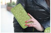 free shipping 2014 prerelease classical detonation zipper wallet hollow out women's long wallet girls wallet