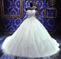 free shipping 2014 new hot fashion bride long elegant vestidos formal luxury crystal sweetheart bridal ball gown wedding Dresses