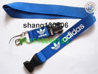 Fast shipping Sports Brand Logo mp3/mp4/mp5 Phone key blue lanyard ID phone strap for men vendor