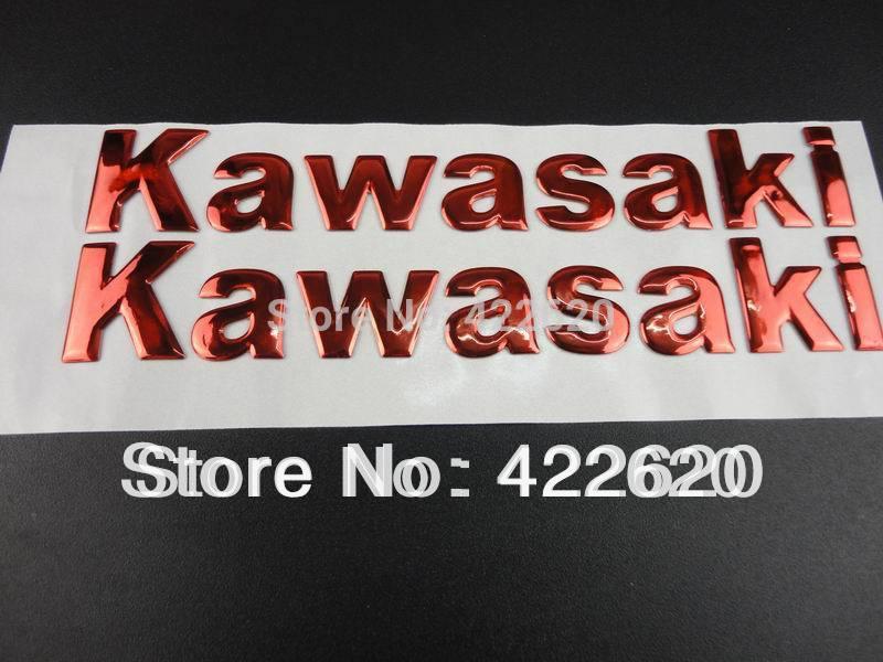Red 3D Soft Gel Fairing Kit Body Fuel Gas Tank Emblem Sticker Universal For Kawasaki KX Vulcan KLR Versys Voyager ZN1100 Ninja(China (Mainland))