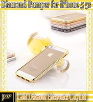 New version Diamond Aluminium Bumper case for iphone 5 5s Free shipping