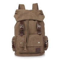 2014 HOT Designer Fashion Canvas Men Travel Backpacks Vintage British Style Outdoor Casual Men Canvas Bags Free Shipping