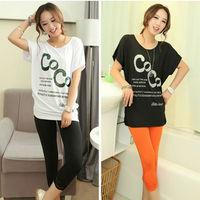 Women T-Shirt Tops Fashion Letter Print Tees Ladies Elegant Plus Size T Shirt Loose Batwing Sleeve T Shirt Women Clothing