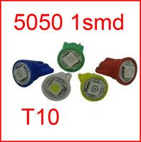 Wholesale white T10 194 168 192 W5W 5050 1 smd 1 led 1smd 1led super bright Auto led car led lighting/t10 wedge led auto lamp