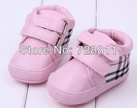 FREE SHIPPING   Baby Boy Shoes Baby Girl Shoes First Walkers Plaid PU Soft Sole Sneakers Shoes Spring/Autumn Footwear 3pairs/lot