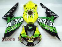 For Honda CBR1000RR 2006 2007 yellow green  06 07 CBR1000RR CBR 1000 RR 06 07 Injection Mold 06 07 Fairing Set Plastic Kit 03