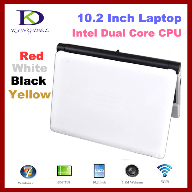 10 inch Laptop mini netbook computer, Intel Atom D2500 Dual Core,1GB RAM+640GB HDD,VGA,HDMI,6 cell 4400MAH Battery windows 7(China (Mainland))