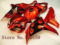 For Honda CBR1000RR 2006 2007 orange black  06 07 CBR1000RR CBR 1000 RR 06 07 Injection Mold Fairing Set Plastic Kit 36