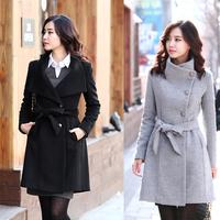 free shipping Women's slim long-sleeve wool thick woolen overcoat outerwear woolen outerwear