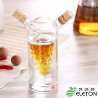 Glass oil and vinegar pot double dual seasoning bottle oil bottle