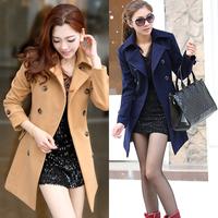free shipping Winter ol elegant women's woolen thick outerwear wool coat