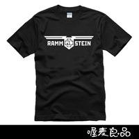2014 summer new brand letter print rammstein music rock t-shirt man top tee casual t shirt plus size short sleeve